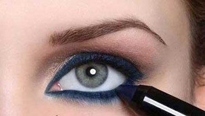 1421528862143 - آموزش تصویری مدل جدید آرایش چشم اسپرت ابی و سایه قهوه ای روشن