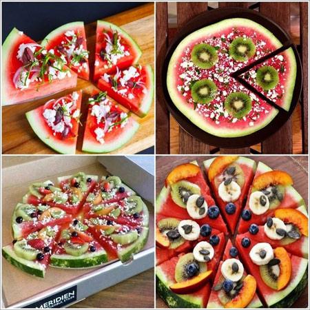 1449964208181 - مدلهای تزیین هندوانه برای شب یلدا به شکل پیتزا