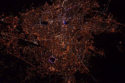 146266487566491 - تصویر تهران از ایستگاه فضایی بین المللی